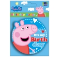 Peppa Pig Party &quot;It's my birthday&quot; Round rubber badge ~ Limited Stock